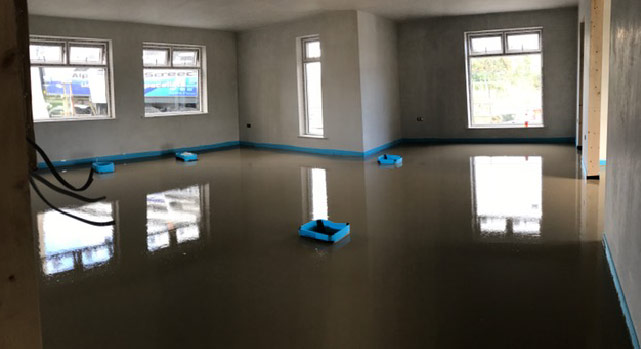 Liquid Floor Screed For UnderFloor Heating After
