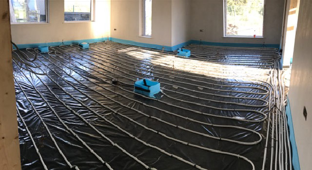 Liquid Floor Screed For UnderFloor Heating Before
